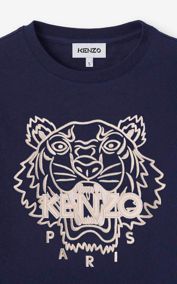 MIDNIGHT BLUE Tiger t-shirt  for women KENZO