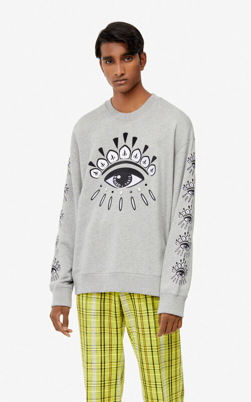 PEARL GREY Multi Eye sweatshirt for women KENZO