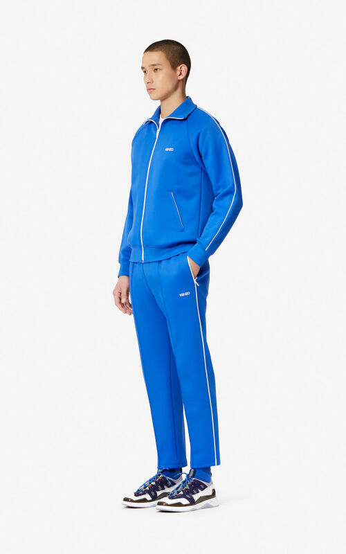 ELECTRIC BLUE KENZO zipped jacket for men