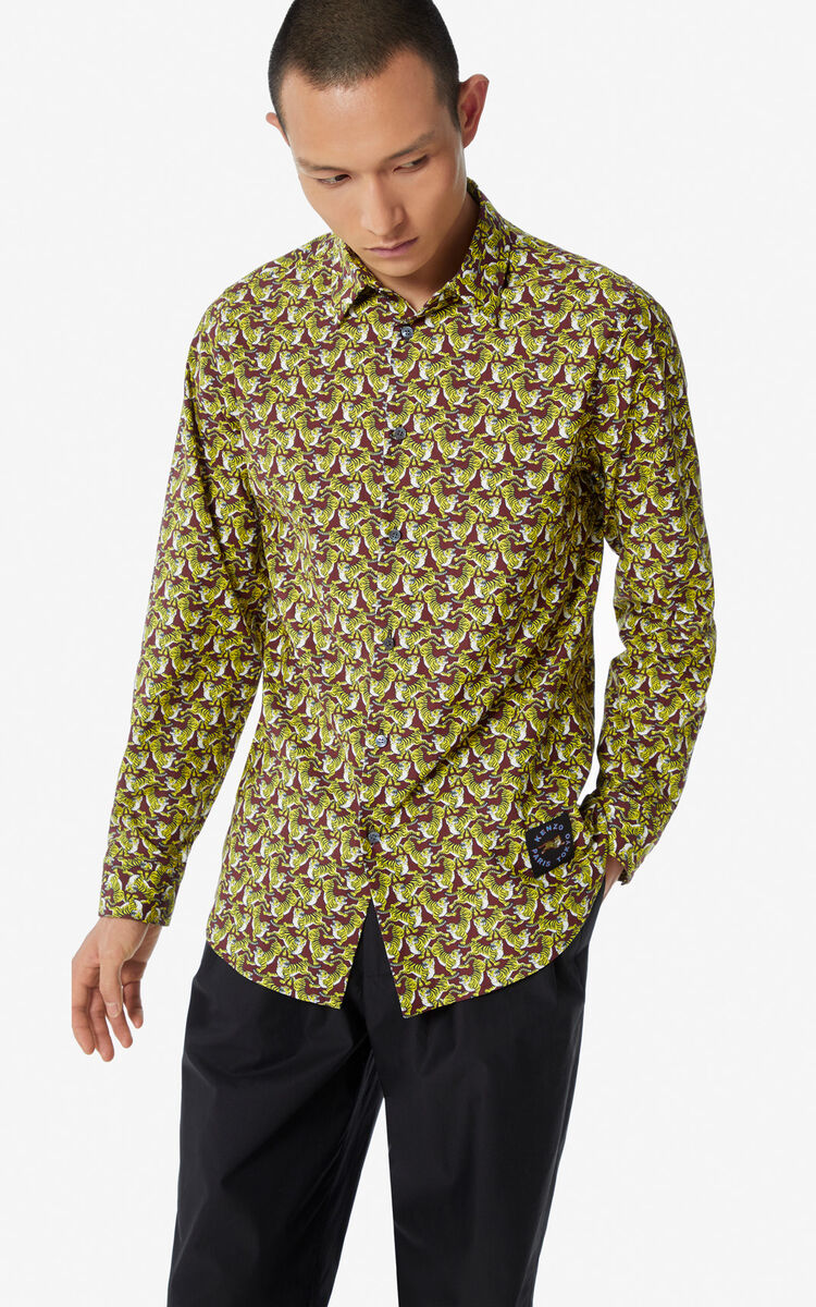BORDEAUX 'Running Tiger' shirt for men KENZO