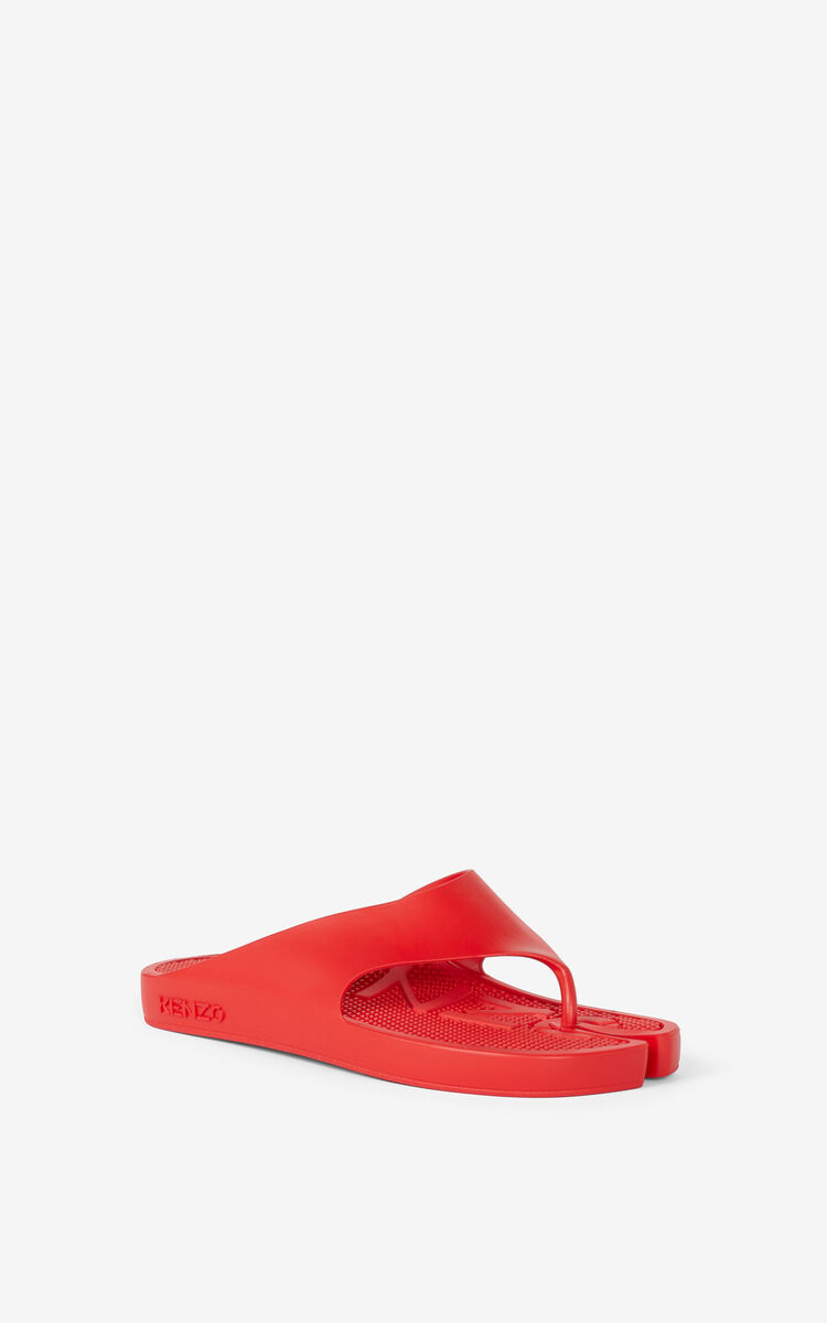 MEDIUM RED K-BEACH flip-flops for unisex KENZO