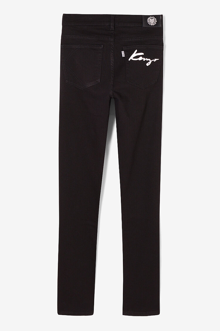 BLACK KENZO Signature Skinny Jeans for men