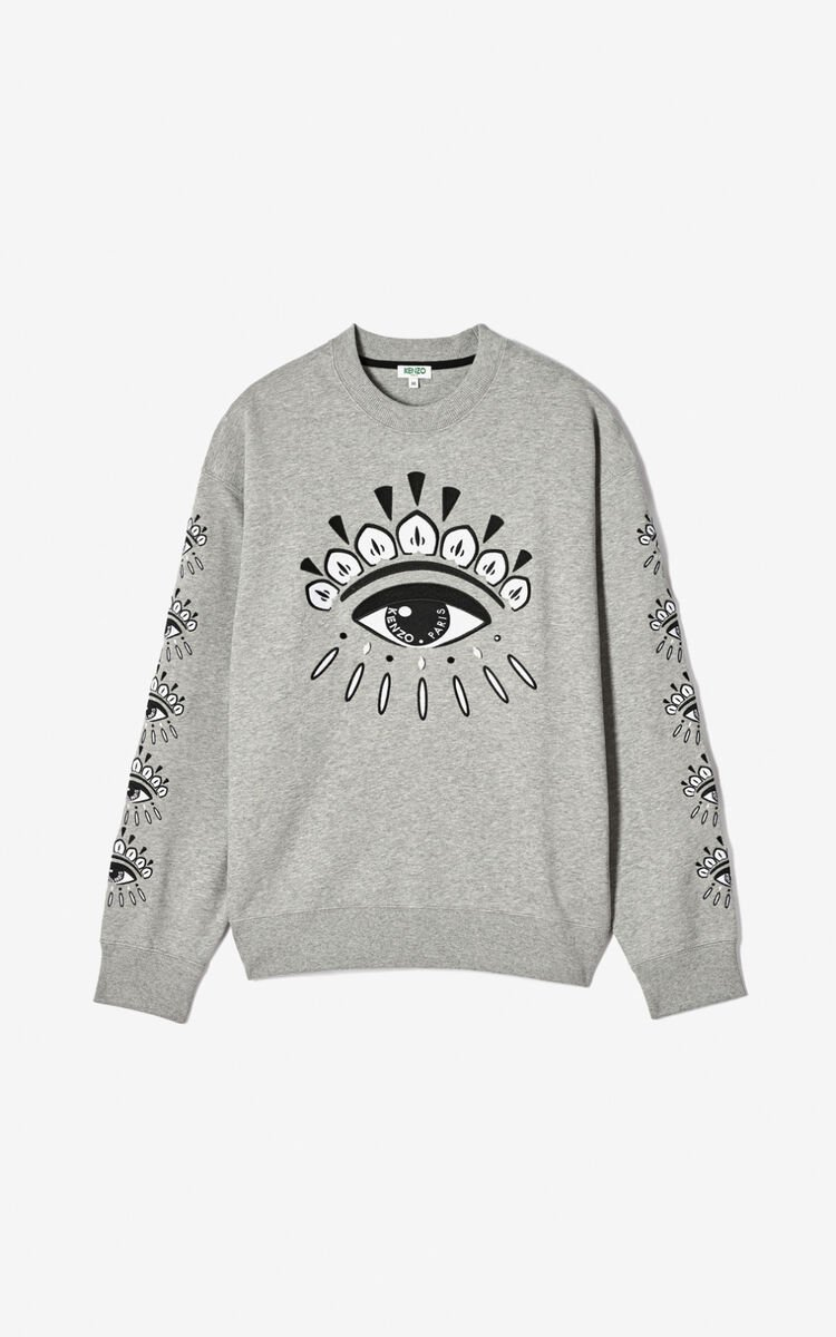 PEARL GREY Multi Eye sweatshirt for men KENZO