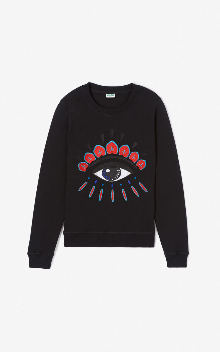 BLACK Eye sweatshirt for women KENZO