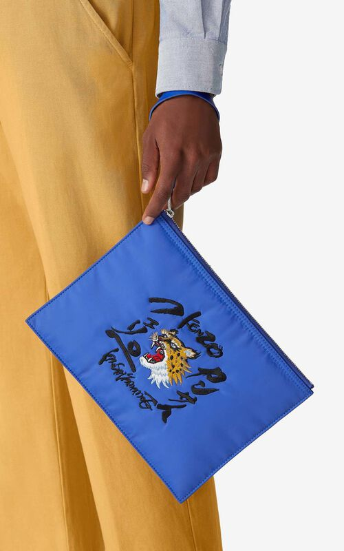 ROYAL BLUE KENZO x KANSAIYAMAMOTO pouch for men