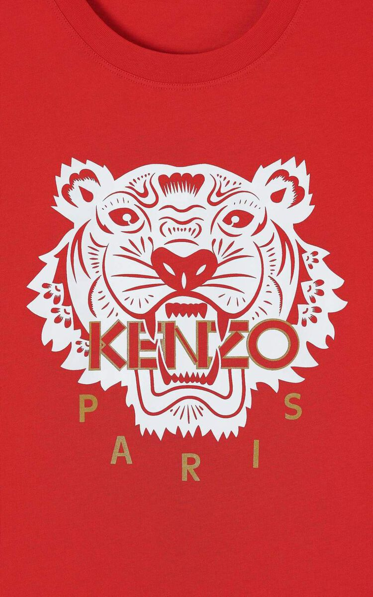 MEDIUM RED 'Chinese New Year Capsule' Tiger t-shirt for women KENZO
