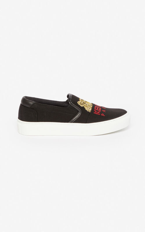 BLACK K-Skate Tiger loafers for women KENZO