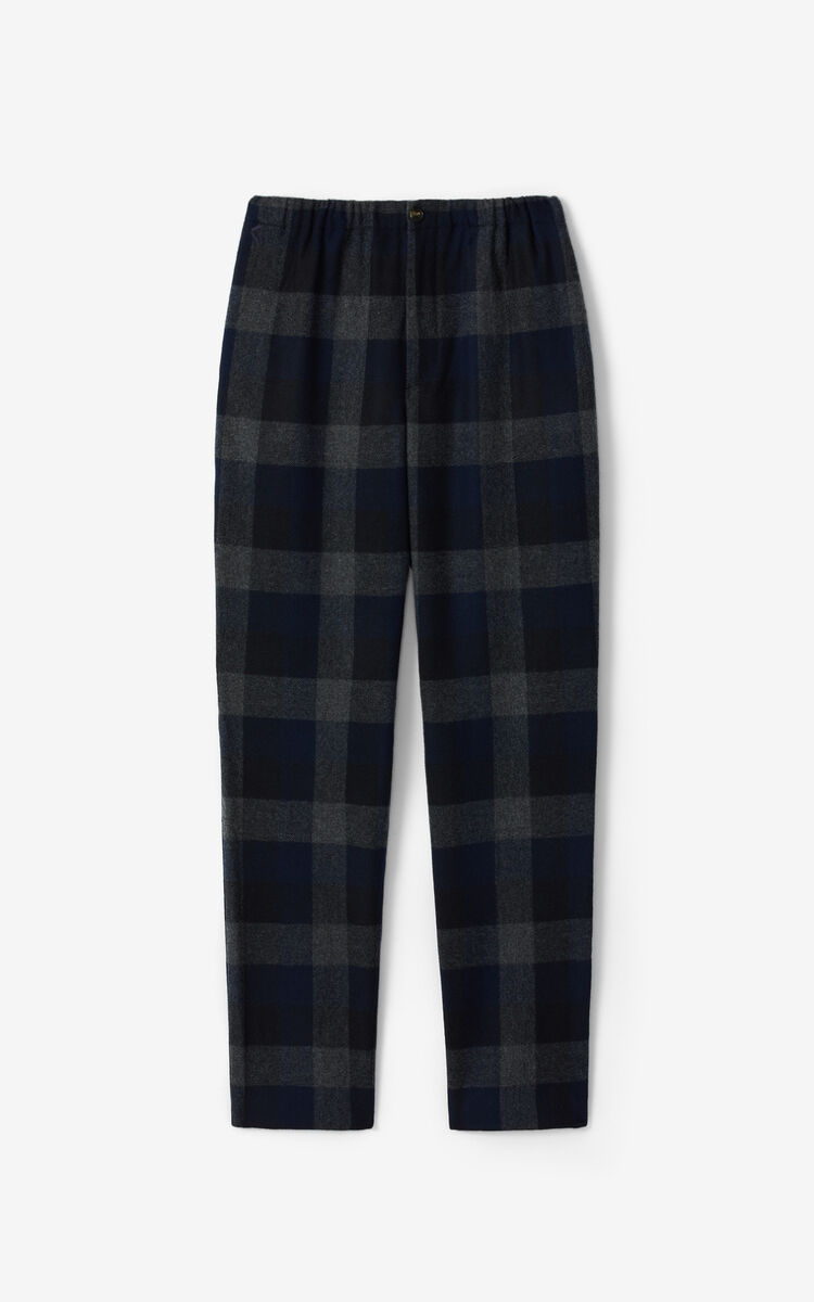 NAVY BLUE Wool joggers for men KENZO