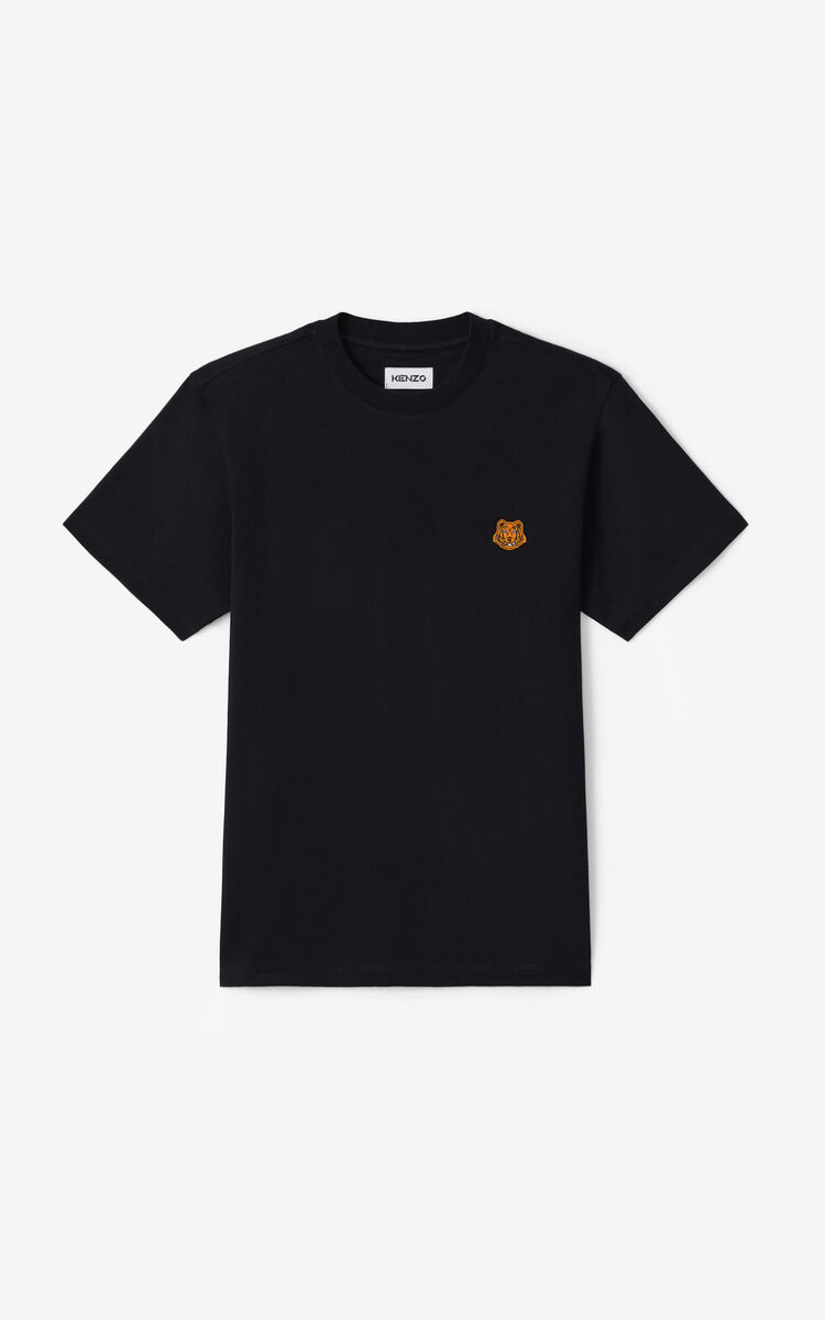 BLACK Tiger Crest t-shirt for women KENZO