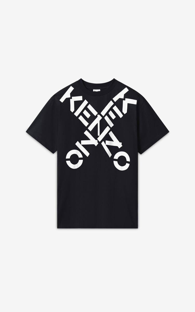 BLACK KENZO Sport 'Big X' oversized t-shirt    for women