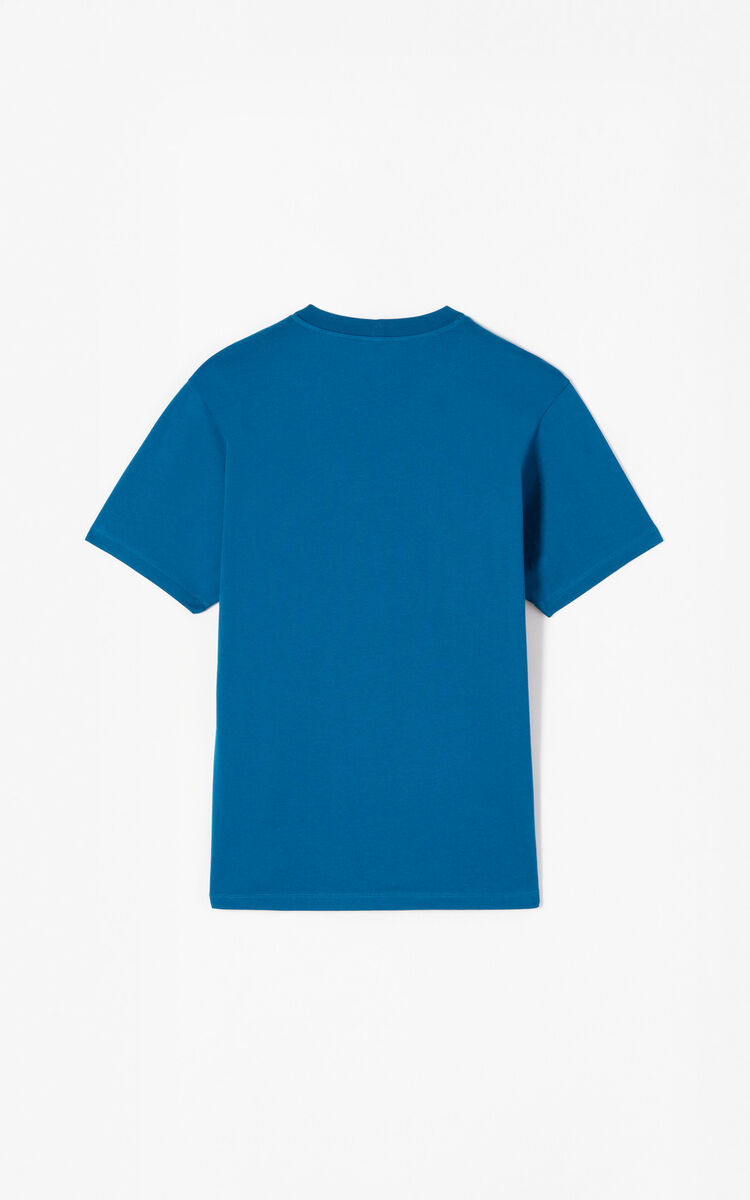 DUCK BLUE Tiger T-shirt for men KENZO