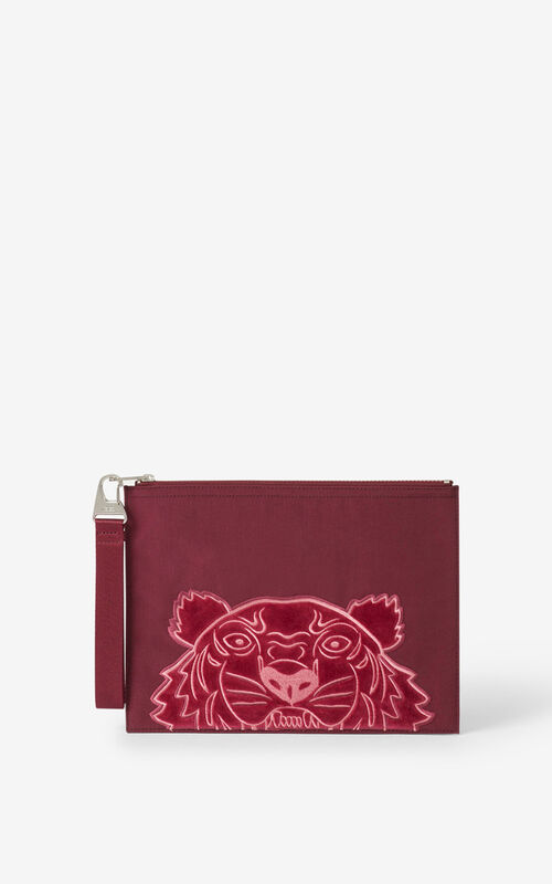 CARMINE Kampus Tiger large canvas clutch for unisex KENZO