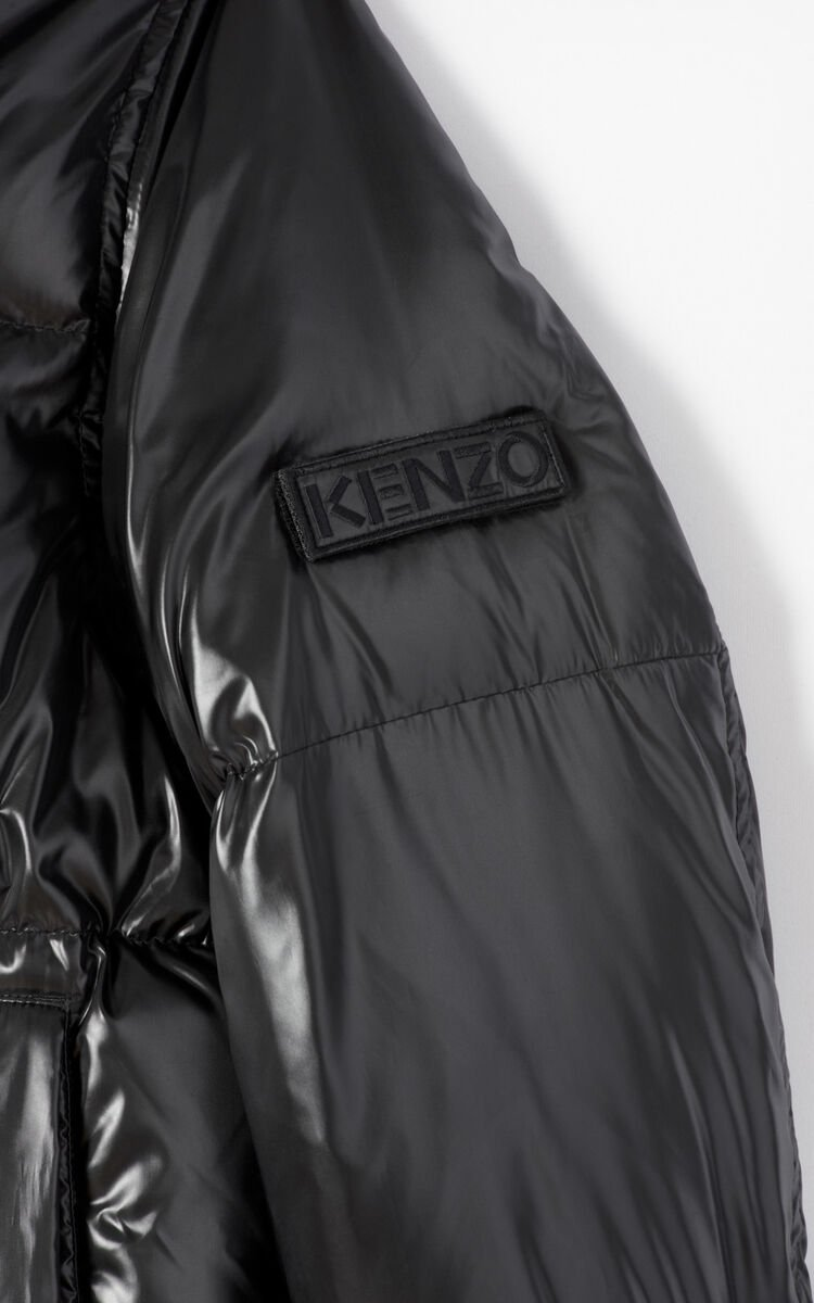 BLACK Quilted down jacket for women KENZO