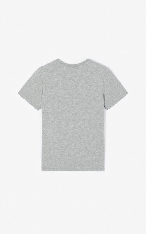 MISTY GREY KENZO logo T-shirt for unisex