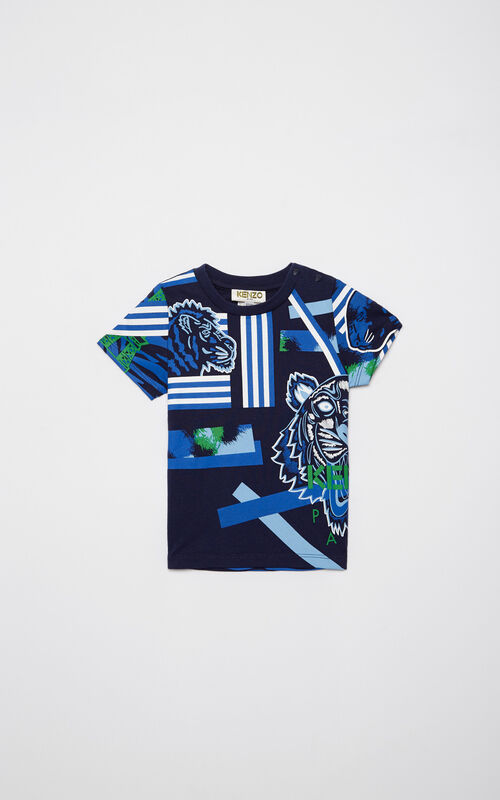 NAVY BLUE 'Tiger Friends' t-shirt for women KENZO