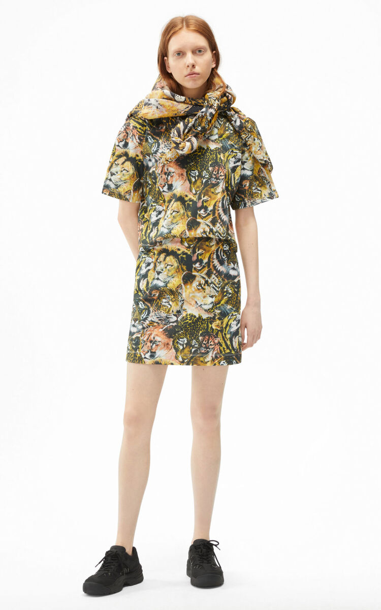 MULTICOLOR 'Wildtigers' T-shirt dress for women KENZO