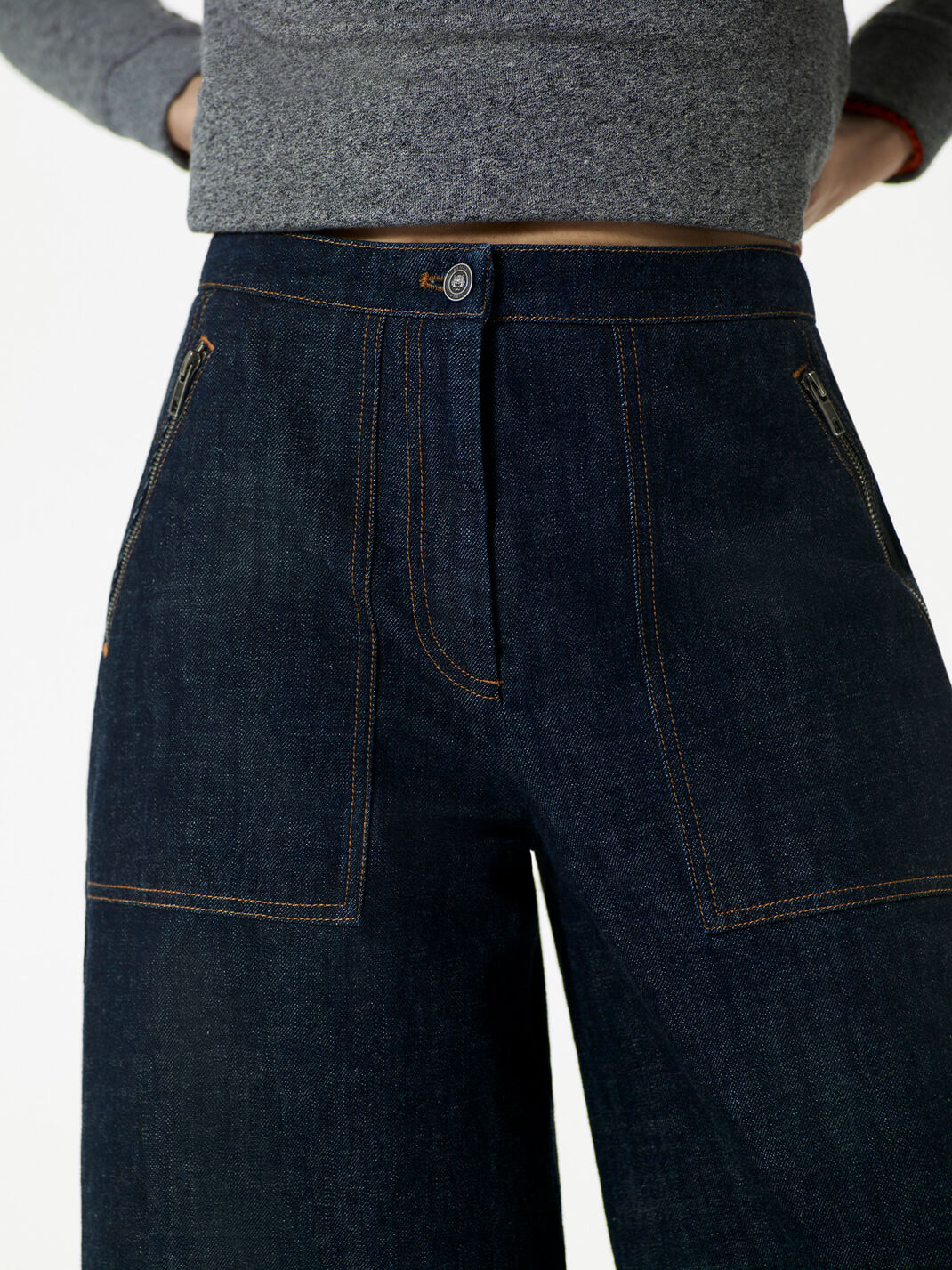 INK Short Wide Denim Jeans for women KENZO
