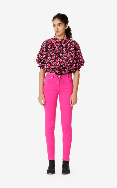 DEEP FUSCHIA Cropped top 'Peonie' for women KENZO