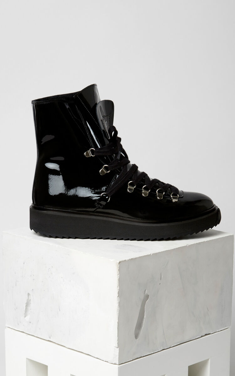 BLACK Alaska fur-lined Boots for women KENZO