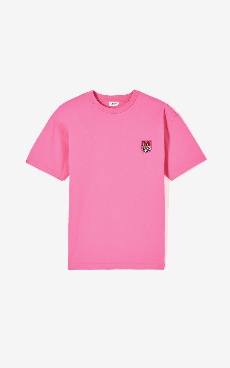 DEEP FUSCHIA 'Tiger Mountain' t-shirt for men KENZO