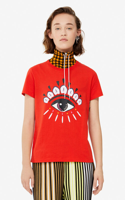 MEDIUM RED Eye t-shirt for women KENZO