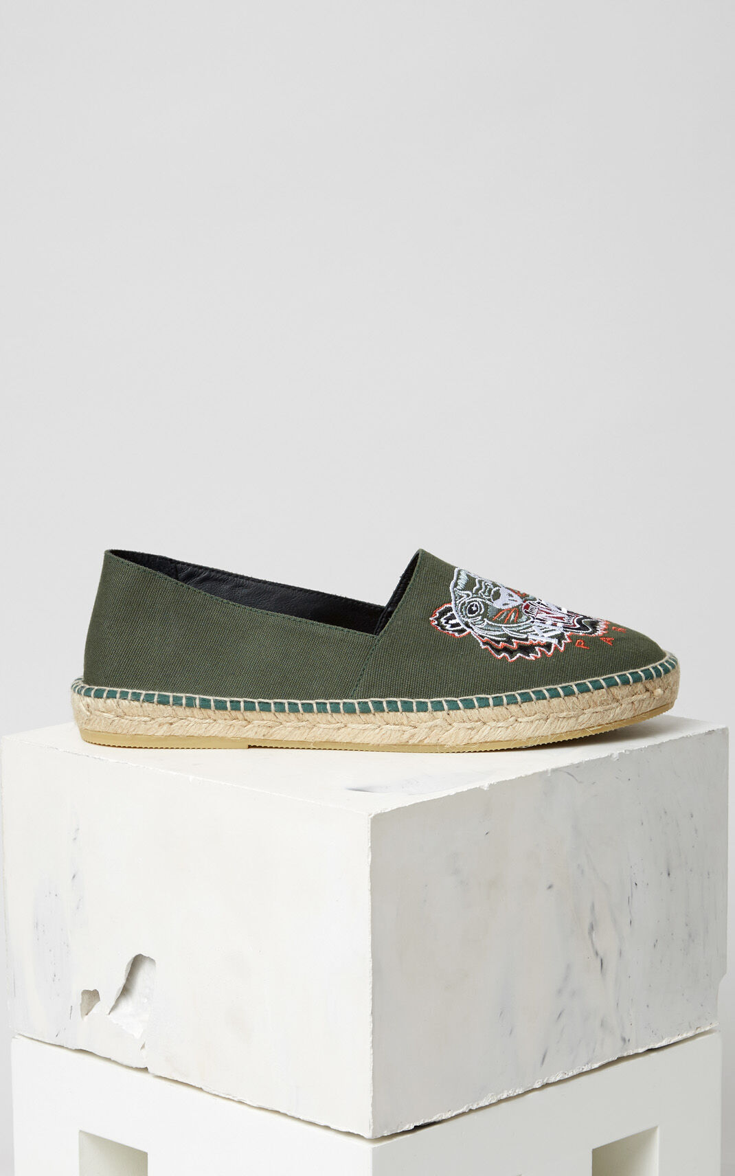 GREEN Tiger Espadrilles for women KENZO