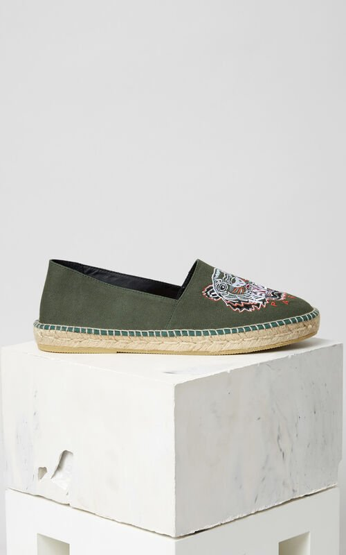 GREEN Tiger Espadrilles for unisex KENZO