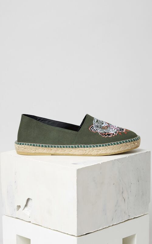 GREEN Tiger Espadrilles for men KENZO