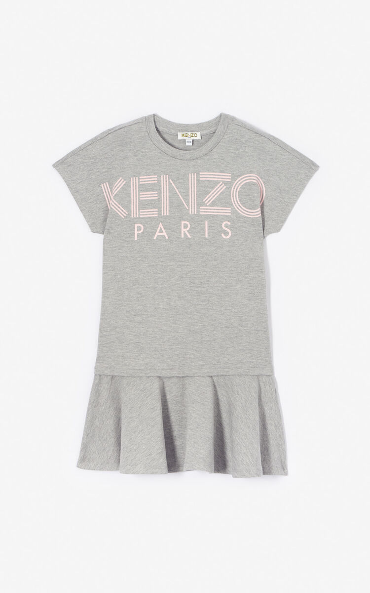 MIDDLE GREY Kenzo logo dress for men