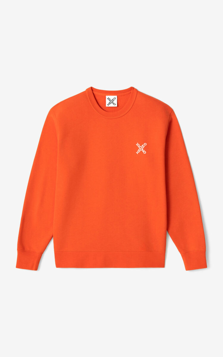 DEEP ORANGE KENZO Sport 'Little X' sweatshirt for women