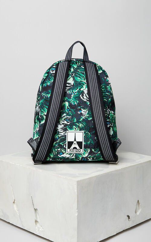 GRASS GREEN Flying tiger Backpack for men KENZO