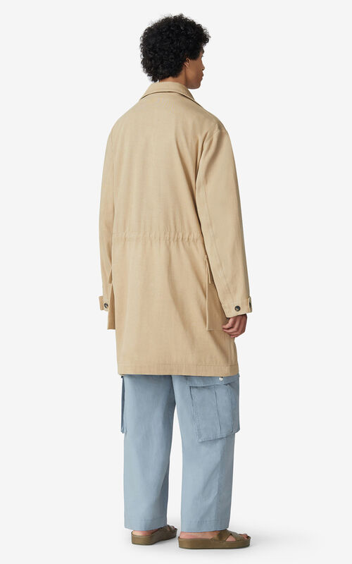 BEIGE Straight-cut work coat for men KENZO