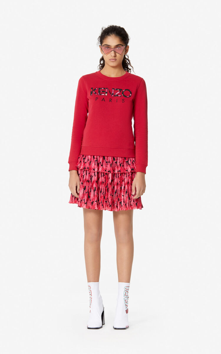 DEEP FUSCHIA 'Peonie' pleated skirt for women KENZO