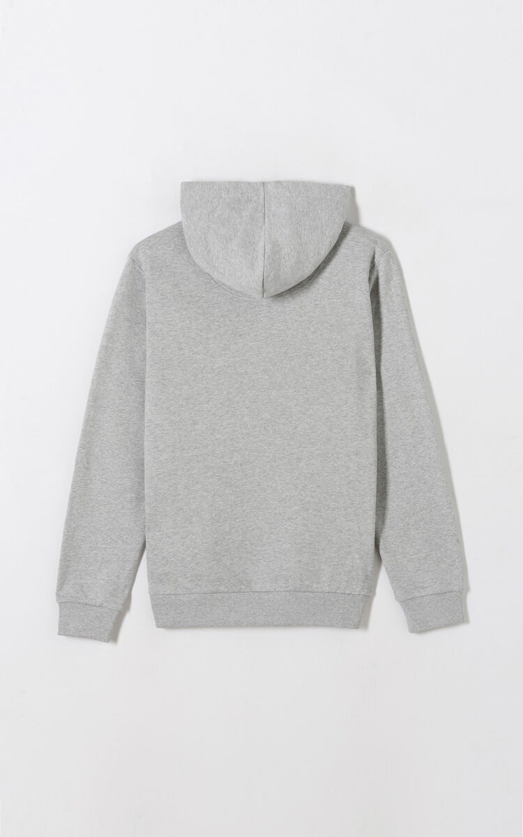 PALE GREY Eye Hoodie for men KENZO