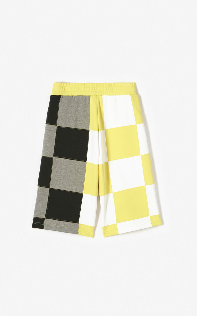 GOLDEN YELLOW Checked shorts for women KENZO