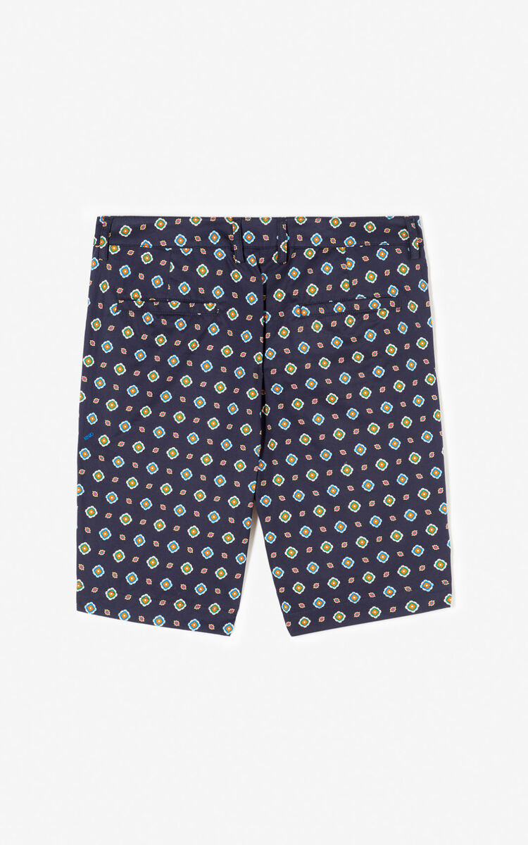 MIDNIGHT BLUE 'Médaillons' shorts for women KENZO