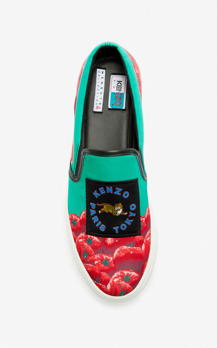 GRASS GREEN 'Tomato' slip-ons for unisex KENZO