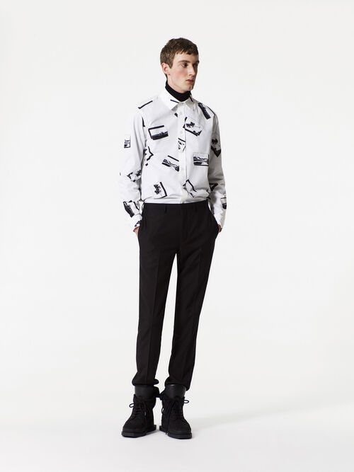 WHITE Postcard shirt for men KENZO