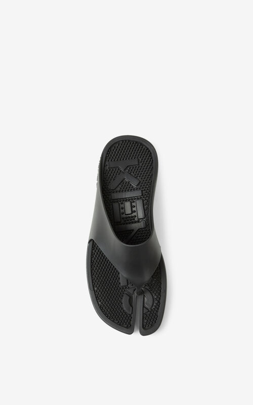 BLACK K-Beach flip-flops for unisex KENZO