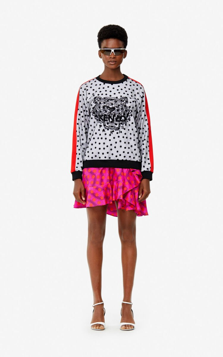 WHITE 'Dots' Tiger top for women KENZO