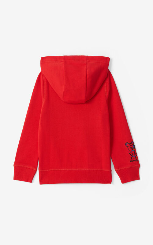 MEDIUM RED Tiger sweatshirt for unisex KENZO