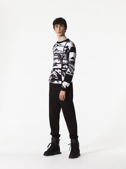 BLACK Tropical Ice Sweater for men KENZO