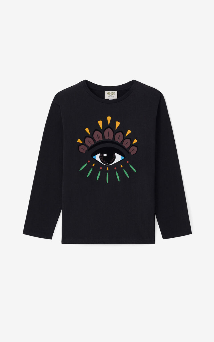 BLACK Eye long-sleeved T-shirt for women KENZO