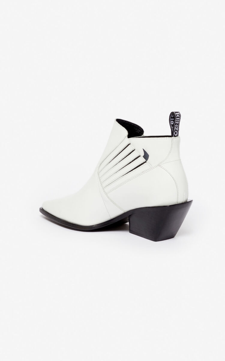 WHITE Rider ankle boots for unisex KENZO