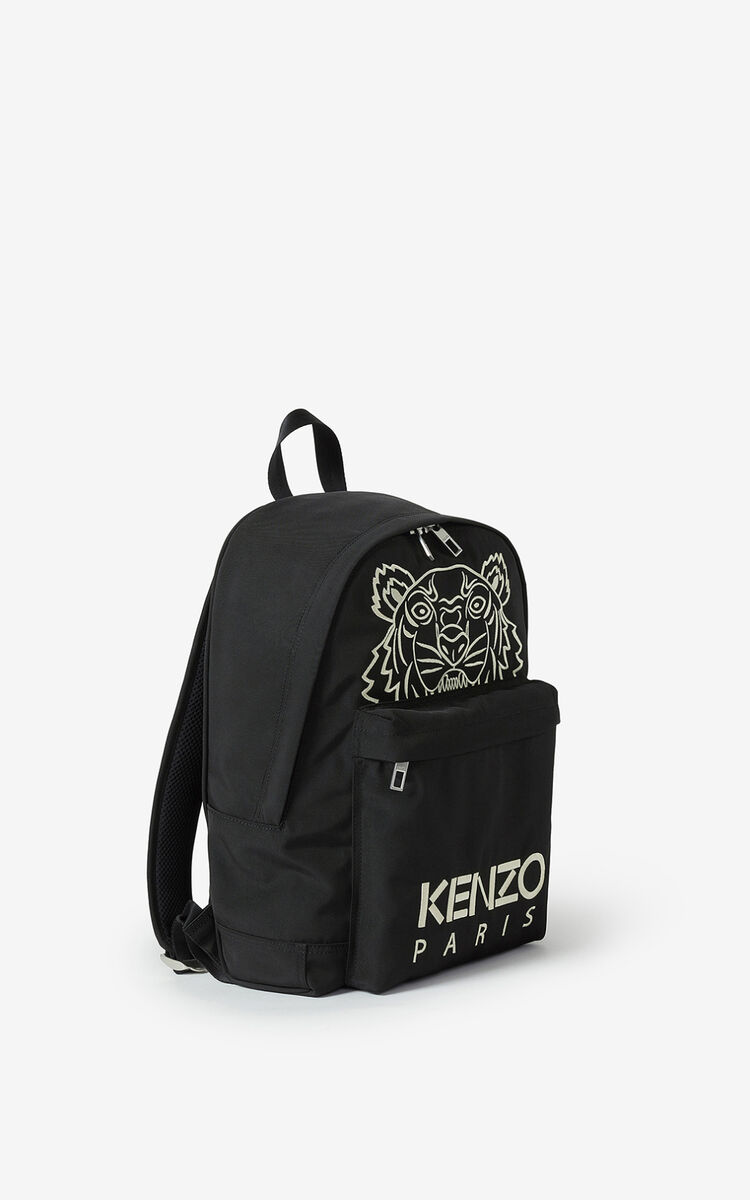 BLACK Kampus Tiger backpack for unisex KENZO