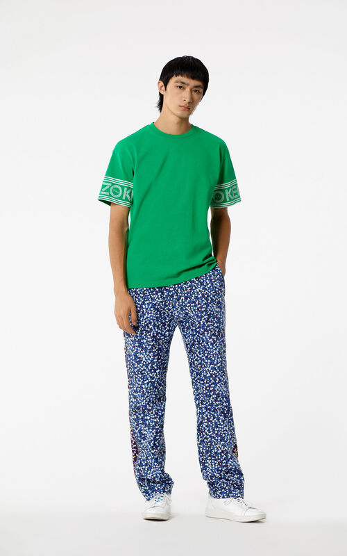 GRASS GREEN KENZO Logo T-shirt for men