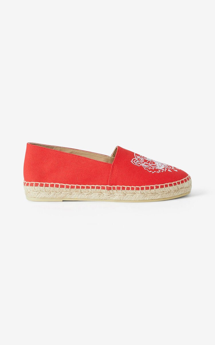 MEDIUM RED  Tiger canvas espadrilles for women KENZO
