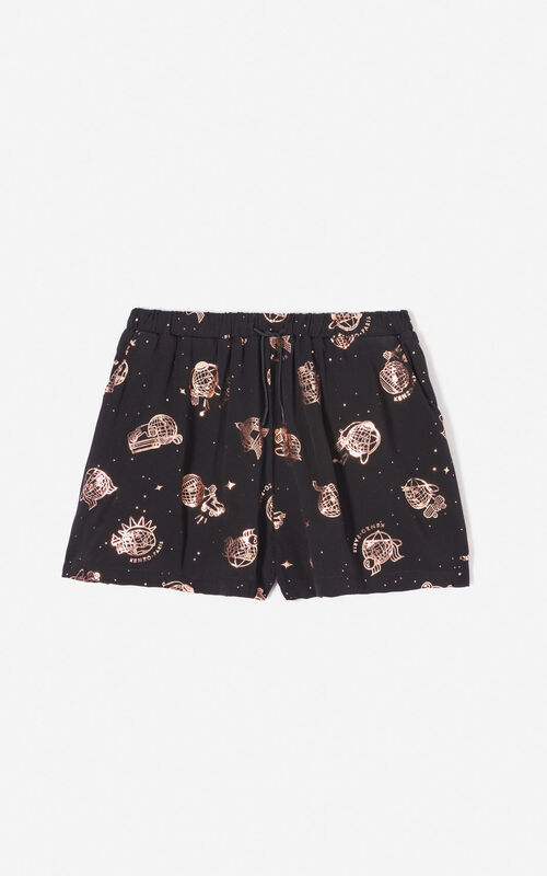 BLACK 'Cosmic' shorts for women KENZO
