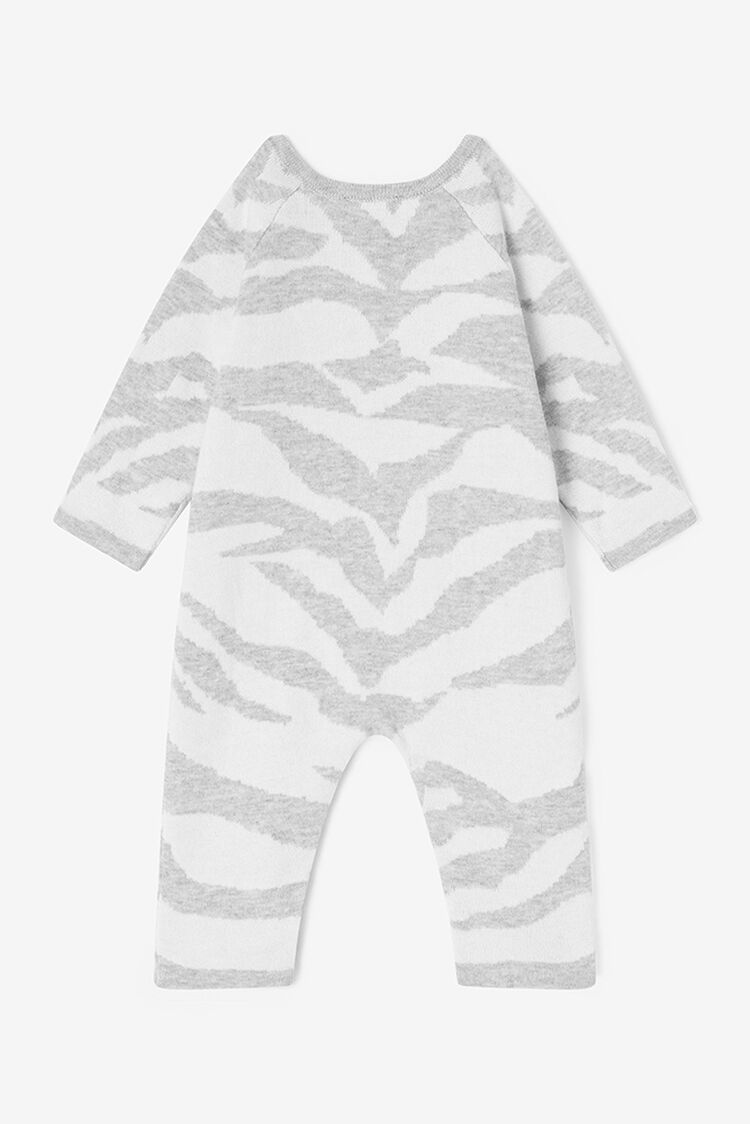 PALE GREY Tiger Stripes Babygrow for unisex KENZO