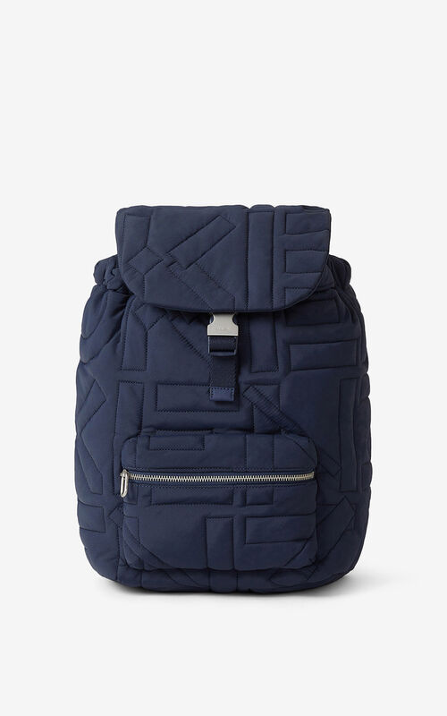 NAVY BLUE Arctic nylon rucksack for unisex KENZO
